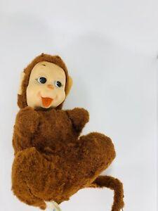"""VTG Rushton Star Creation Rubber Face Monkey Plush 7"""" Rare"""