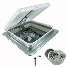 "HENG'S 14"" RV Roof Vent Kit w/ Butyl Tape w/12 Volt Fan 