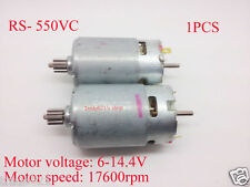 High Speed RS- 550VC DC Motor for MABUCHI with Gear DC6V~14.4V 17600rpm
