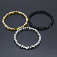 Single Row Tennis Choker Chain Necklace Bracelet Party Jewelry Set for Dancer