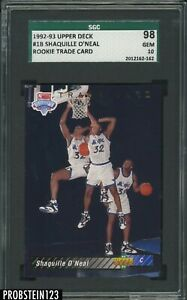 1992-93 Upper Deck #1 Shaquille O'Neal Magic RC Rookie HOF SGC 98 GEM 10