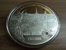 "Münze ""Neue Euroländer"", Estland, Cu versilbert + Teilvergoldung., # 00493"