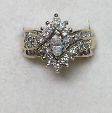 1 ct natural (REAL) DIAMOND ENGAGEMENT ring SOLID 14k yellow GOLD keepsake