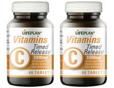 Lifeplan Vitamina C rilascio del tempo 1000 MG - 2 x 60 Compresse Confezione Doppia