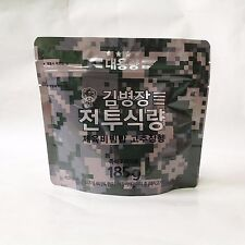 Big 185g Dried Stir-fried Pork & Rice Korean MRE Camping Food Emergency Rations