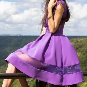 Summer Elegant Women Sexy A Line Gowns Slim Party Dresses Mesh Splicing Dress