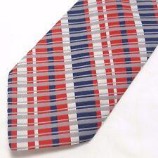 Vintage Red White Blue Stripe Tie Patriotic USA July 4th Wide Damon Brand Preppy