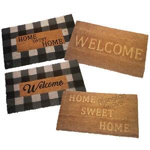 65 x 35 Coir Door Mat Welcome Home Sweet Home Large Indoor Outdoor Rubber Back