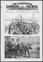 1882 Antique Print - AFRICA EGYPT War Armoured Train Gatling Gun Ramleh  (246)