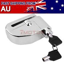AU Stainless Steel Motorcycle Brake Disc Safety Lock Alarm 2 Keys For Harley 7M
