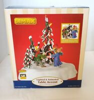 Lemax Village 2004 #44190 Animated Dancing Around MERRY CHRISTMAS TREE Lighted