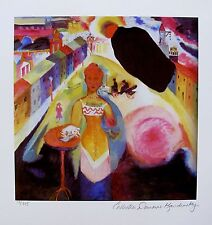 Wassily Kandinsky LADY IN MOSCOW Estate Signed Limited Edition Art Small