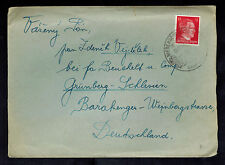 1943 Germany to Gross Rosen Concentration Sub Camp KZ Cover Grunberg Schlesien