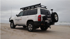 Nissan Patrol GU Series 4+ 2005 Onwards Rear Bar Dual Spare Wheel Carrier