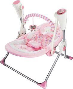LADIDA Pink Animal Electric Baby Swing Bluetooth Music, Toy Bar, 881