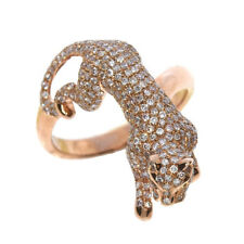 Real 1.28ct Natural Fancy Pink Diamonds Engagement Ring 18K Solid Gold 7G Cat