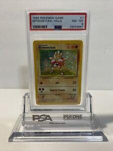 Pokemon PSA 8 Hitmonchan 7/102 Holo Base Set 1999 NM-MT
