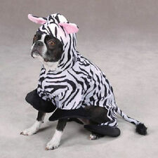 Zack & Zoey ZEBRA Dog Puppy Costume Halloween Black & White Stripe Size:XSmall