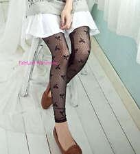 Japan Lace Mesh Dot Pattern Stocking Leggings! Bow