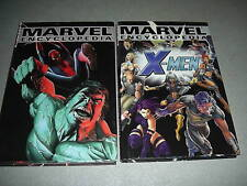 Marvel Encyclopedia Vol. 1 2 The X-Men HC 1st Print Marvel Comics Hulk Spiderman