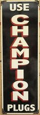 CHAMPION SPARK PLUGS (UPRIGHT) ENAMEL SIGN (MADE TO ORDER) #80