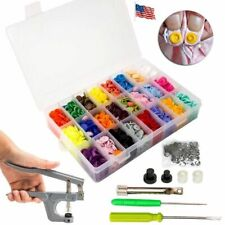 Pro 360X DIY Craft KAM Snaps Snap Starter Plastic Poppers Fasteners + Pliers Kit