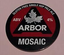 ARBOR BREWERY MOSAIC GLUTEN FREE PALE ALE BEER PUMP HANDLE CLIP BADGE 4 % ABV GF