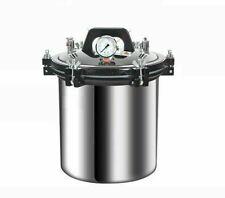 24l Portable Stainless Steel High Pressure Steam Sterilizer Autoclave 220v