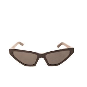 RRP€385 PRADA Geometric Cat Eye Sunglasses Lightly Mirrored Lenses Made in Italy