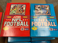 Lot Of 2 1990 Score NFL Football Series 1 And Series 2  Unopened Wax Boxes