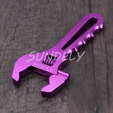 3AN-16AN Adjustable Aluminum AN Wrench Hose Fitting Tool Spanner Purple NEW
