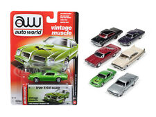 AUTOWORLD MUSCLE CARS PREMIUM RELEASE 5B SET OF 6 CARS 1/64 BY AUTOWORLD 64042 B