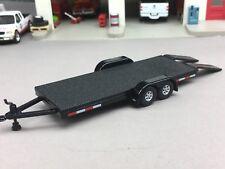 1/64 JOHNNY LIGHTNING BLACK CAR HAULER TRAILER