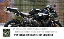 10 x Honda CBR de Acero Inoxidable Carenado Perno Tornillo 250R 500R 1000R CB