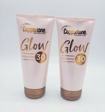 (2) COPPERTONE GLOW SUNSCREEN LOTION WITH SHIMMER SPF 30, 5 FL OZ PACK OF 2