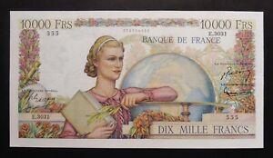 """10 000  Francs  """"Génie Français"""" - 4 septembre 1952"""