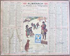 Almanach des Postes et des Télégraphes / Calendrier 1929 Deux-Sèvres / École
