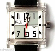 ELBA TEAM ET-380 LOCMAN WATCH - White/Gray Face, Black Band. NEW BOXED