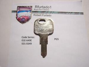 Key Blank for Vintage Peugeot 505 trunk/glvebox 1985-91 (see code series)  PG5