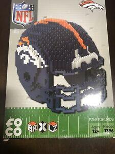NFL Denver Broncos BRXLZ Team Helmet 3-D Puzzle Construction Toy New 1396 Pieces