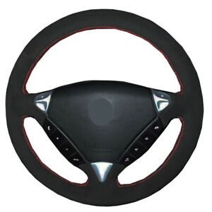 DIY Suede Car Steering Wheel Cover For Porsche Cayenne 2006 2007 2008 2009 2010