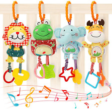 Tumama Baby Toys for 0, 3, 6, 9, 12 Months, Handbells Baby Rattles with Teethers