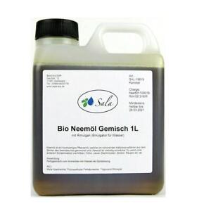 Sala Neemöl kaltgepresst bio mit Rimulgan Emulgator Neem Niemöl 1 L 1000 ml