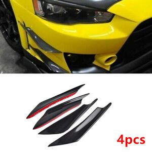 4x Car Front Bumper Lip Body Splitter Spoiler Carbon Fiber Look For Toyota Camry