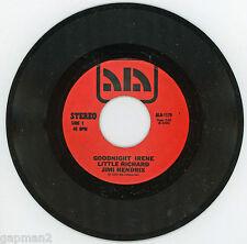 Little Richard Jimi Hendrix 1972 Ala 45rpm Goodnight Irene b/w Don't You Love Me