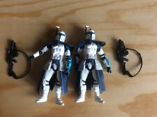 """TWO HASBRO STAR WARS CLONE WARS HUNT FOR GRIEVOUS CLONE TROOPERS 3.75"""" RARE 2003"""