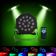 New 18 LED RGB Stage PAR Light Disco DJ Lighting DMX-512 Strobe Party Light 24W