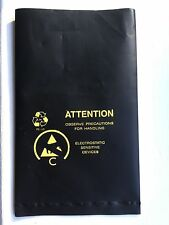 Black Anti Static Conductive ESD Open Top Bags- Lot of 10- Small 125mm x 80mm