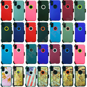 For Apple iPhone XR / XS Max Defender Case Cover (Belt Clip Fits Otterbox)