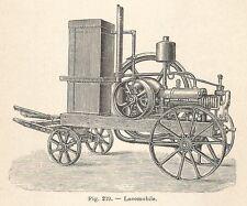 B1970 Locomobile - Incisione antica del 1928 - Engraving